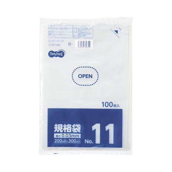 (まとめ)TANOSEE 規格袋 11号0.03×200×300mm 1セット(1000枚:100枚×10パック)【×5セット】