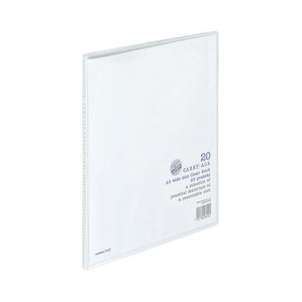 (まとめ)コクヨ クリヤーブック(キャリーオール)固定式 A4ワイド 20ポケット 背幅11mm 透明 ラ-3T 1セット(10冊)【×3セット】