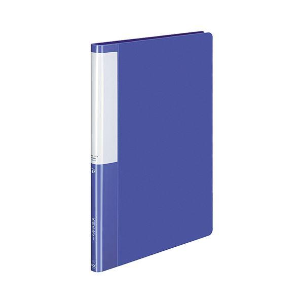 (まとめ) コクヨ 名刺ホルダー(POSITY) 固定式 A4タテ 400名用 ヨコ入れ ブルー P3メイ-745B 1冊 【×30セット】