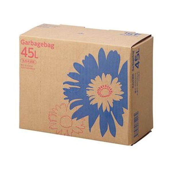 (まとめ)TANOSEE ゴミ袋 コンパクト乳白半透明 45L BOXタイプ 1箱(110枚)【×10セット】