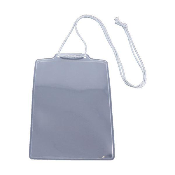 イベント用名札ハガキサイズ 1袋(10枚) (まとめ) グレー 【×10セット】 TNH-10-GY TRUSCO