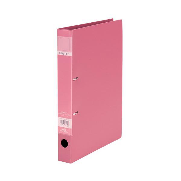 (まとめ)セキセイ ロックリングファイル A4タテ2穴 220枚収容 背幅37mm ピンク F-522-21 1冊 【×20セット】