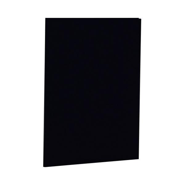 (まとめ) ナカバヤシ 証書ファイル 布クロス A4二つ折り 同色コーナー固定タイプ 黒 FSH-A4-D 1冊 【×10セット】