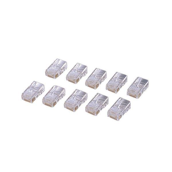 (まとめ) エレコム カテゴリー5E対応 RJ45コネクタ 単線仕様 LD-RJ45T10A 1セット(10個) 【×30セット】