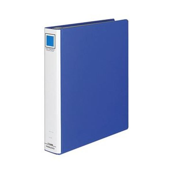 (まとめ)コクヨ ロックリングファイル(シングルレバー)A4タテ 4穴 300枚収容 背幅55mm 青 フ-TL444B 1セット(4冊)【×3セット】
