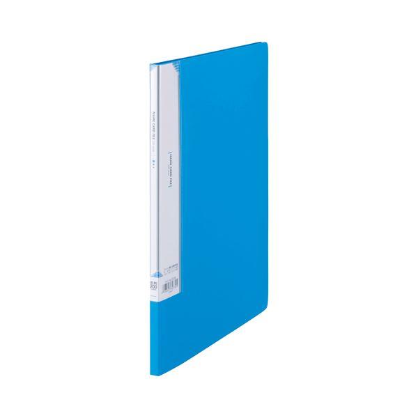 (まとめ) ビュートン 名刺ホルダー A4タテ 200名用 ヨコ入れ スカイブルー INC-A4-200SB 1冊 【×30セット】
