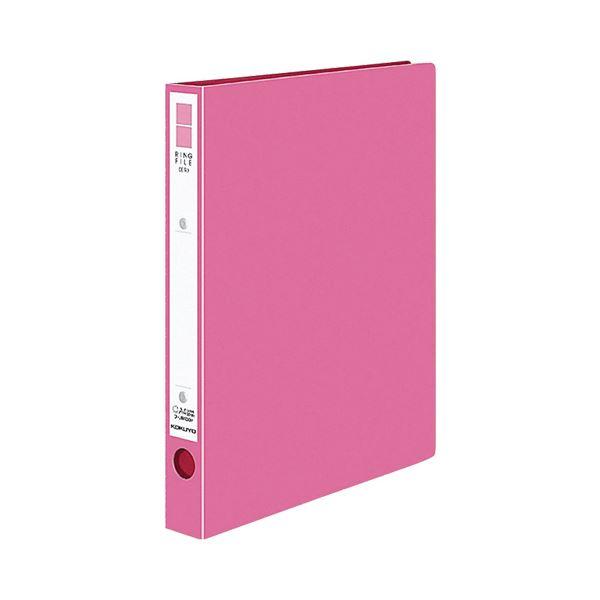 (まとめ)コクヨ リングファイル(ER・PP表紙)A4タテ 2穴 220枚収容 背幅39mm ピンク フ-UR430NP 1冊 【×20セット】