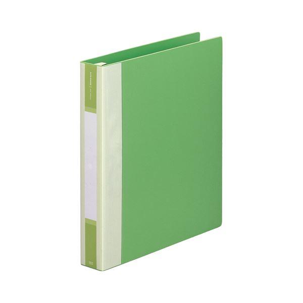 (まとめ) リヒトラブ リクエスト リフィルバインダーMTL A4タテ 30穴 120枚収容 背幅50mm 黄緑 G3903-6 1冊 【×10セット】