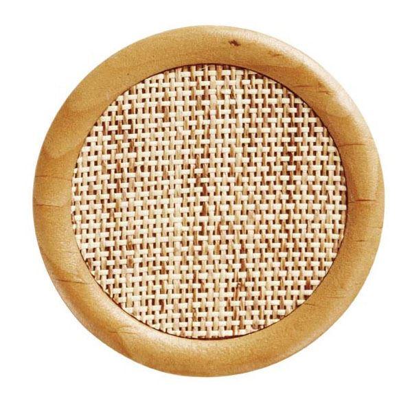 【スーパーSALE限定価格】(まとめ) コースター/キッチン用品 【ネット 丸】 底径7.5cmまで対応 木製×コルク 編み細工敷き 【400個セット】