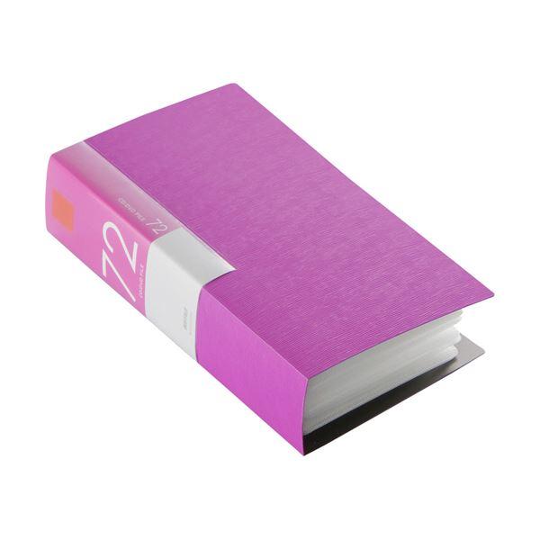(まとめ) バッファローCD&DVDファイルケース ブックタイプ 72枚収納 ピンク BSCD01F72PK 1個 【×10セット】