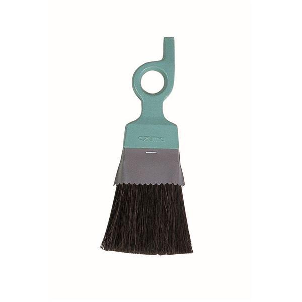 (まとめ) プチブラシ/掃除用品 【ブラシ幅:8cm】 柄:ヘラ付き 天然素材ブラシ 窓掃除 【×60個セット】