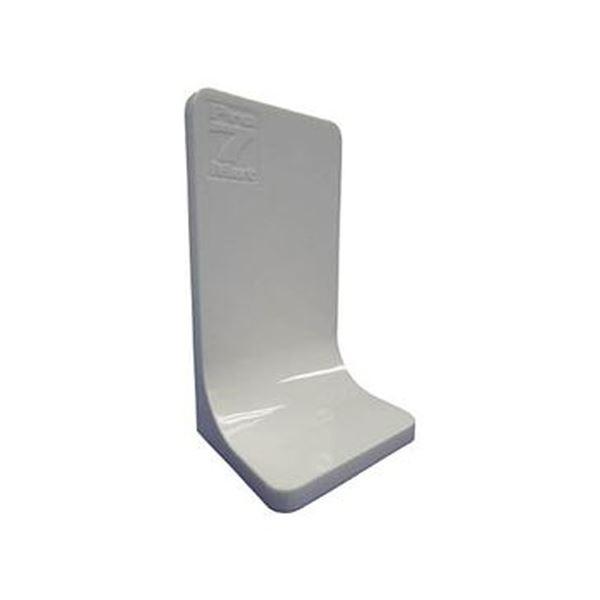 (まとめ)プロセブン プロセブン L型ストッパーホワイト PSL-N3404W 1パック(4個)【×3セット】