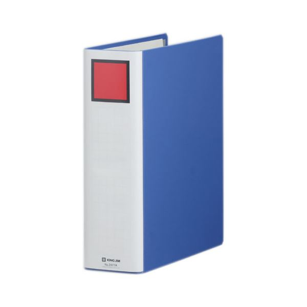 (まとめ) キングファイル スーパードッチ(脱・着)イージー A4タテ 700枚収容 背幅86mm 青 2477A 1冊 【×30セット】