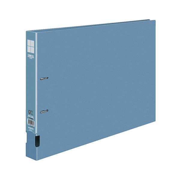 コクヨ DリングファイルE型再生PP表紙 A3ヨコ 2穴 300枚収容 背幅45mm 青 フ-FD433NB 1セット(10冊)