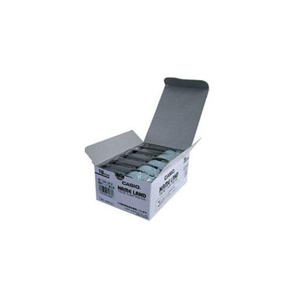 CASIO ネームランド(NAME LAND) スタンダードテープ (透明テープ/黒文字/18mm幅・5本入) XR-18X-5P-E