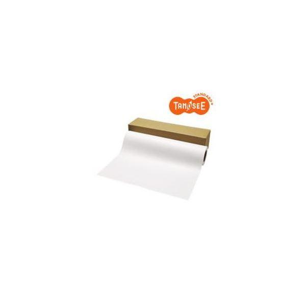 (まとめ)TANOSEE PPC・LEDプロッタ用普通紙ロール A1(594mm×200m) 3インチ紙管テープ止め 1本【×3セット】