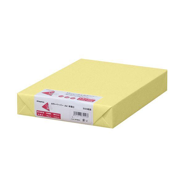 (まとめ) 長門屋商店 Color Paper A4中厚口 クリーム ナ-3253 1冊(500枚) 【×5セット】