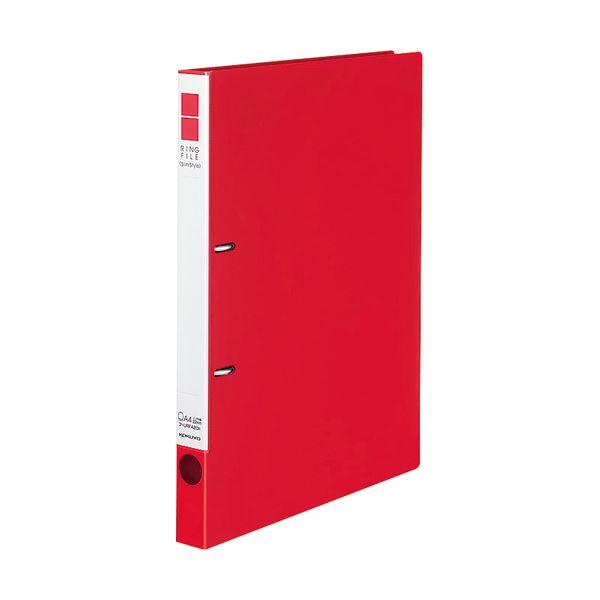 (まとめ) コクヨ リングファイル(スリムスタイル)A4タテ 2穴 180枚収容 背幅27mm 赤 フ-URF420R 1冊 【×30セット】