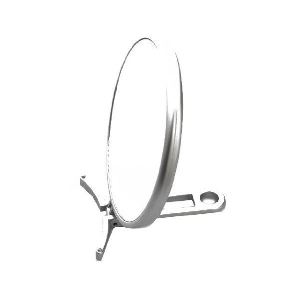 【スーパーSALE限定価格】(まとめ)手鏡 折立 ハンドミラー拡大鏡付 シルバー CH-8740 【72個セット】