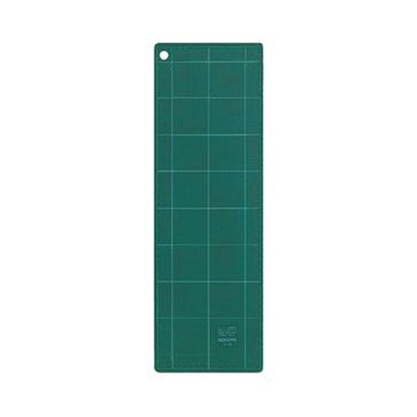 (まとめ)コクヨ カッティングマット(両面仕様)450×150×3mm グリーン マ-41 1枚【×10セット】
