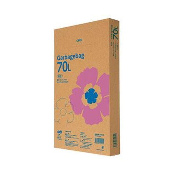 (まとめ)TANOSEE ゴミ袋エコノミー乳白半透明 70L BOXタイプ 1箱(110枚)【×10セット】