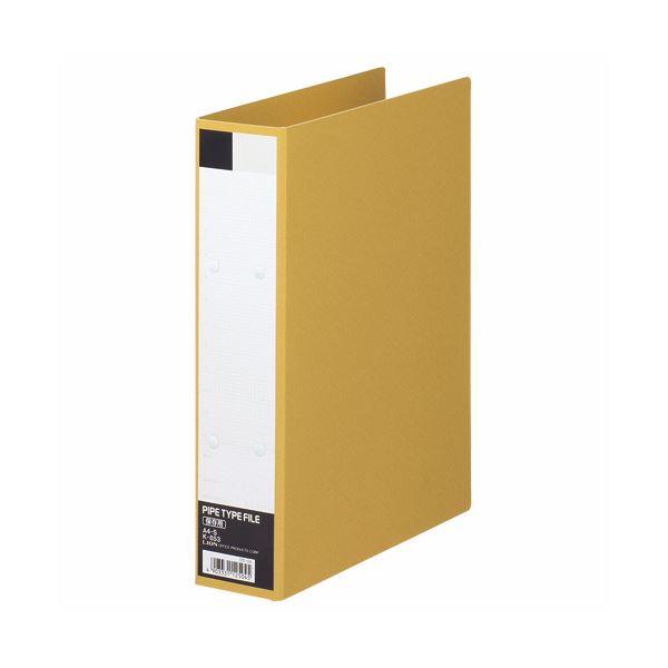 (まとめ) ライオン事務器 パイプ式保存ファイル片開き A4タテ 500枚収容 50mmとじ 背幅67mm クラフト K-853 1冊 【×30セット】