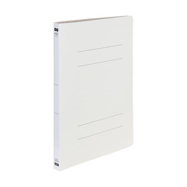 (まとめ)TANOSEE書類が出し入れしやすい丈夫なフラットファイル「ラクタフ」 A4タテ 150枚収容 背幅20mm グレー1セット(50冊:5冊×10パック)【×3セット】