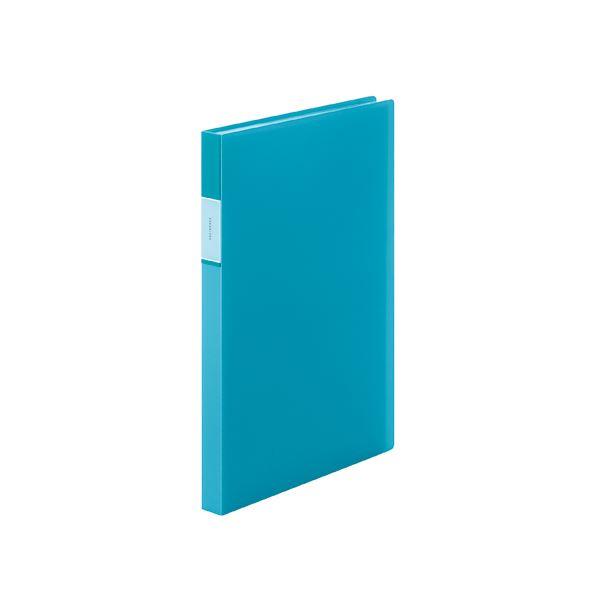 (まとめ) キングジム フェイバリッツ クリアーファイル 透明 A4 40P 水色【×20セット】