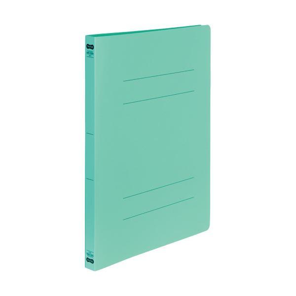 (まとめ)TANOSEE書類が出し入れしやすい丈夫なフラットファイル「ラクタフ」 A4タテ 150枚収容 背幅20mm グリーン1セット(50冊:5冊×10パック)【×3セット】