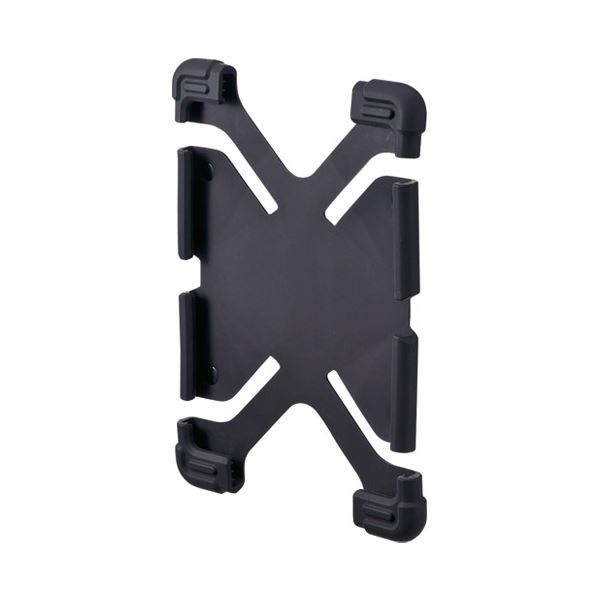 (まとめ)サンワサプライ 耐衝撃シリコンケース PDA-TABH4BK【×5セット】