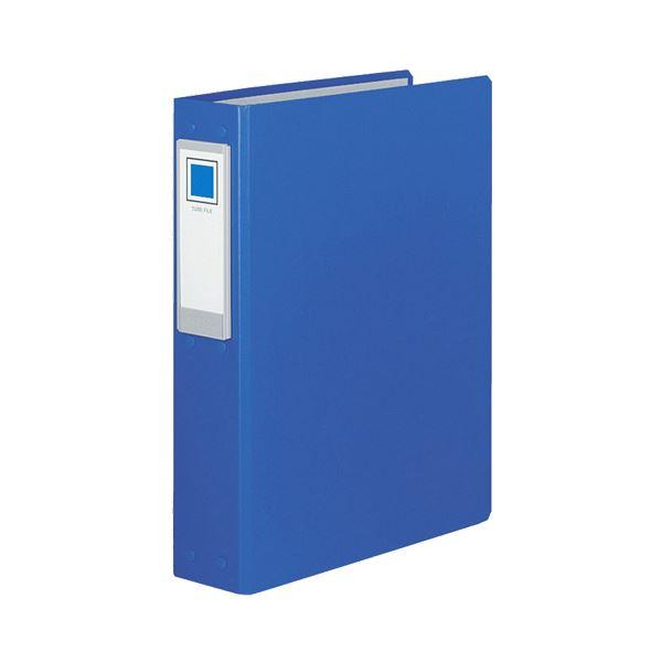 (まとめ) コクヨ チューブファイル(ロングボディ)片開き A4タテ 2穴 400枚収容 40mmとじ 背幅69mm 青 フ-L640NB 1セット(2冊) 【×10セット】