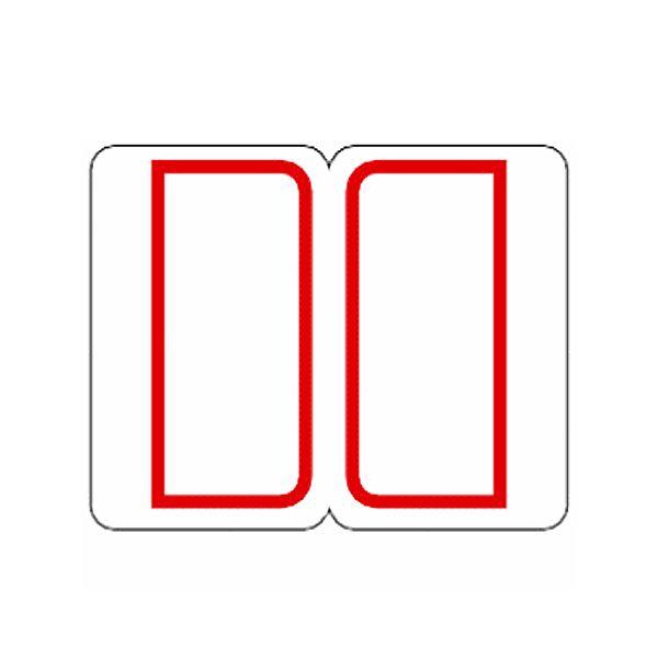 (まとめ) ライオン事務器 インデックスラベル27×34mm 赤 RL1 1パック(180片:9片×20シート) 【×50セット】