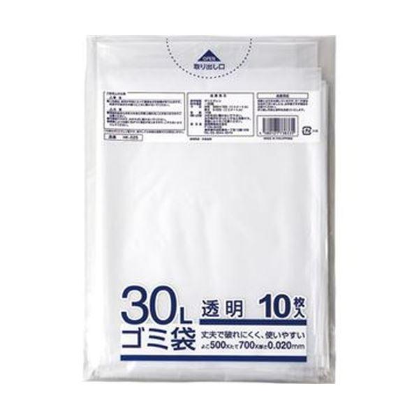(まとめ)クラフトマン 業務用透明メタロセン配合厚手ゴミ袋 30L HK-025 1パック(10枚)【×100セット】
