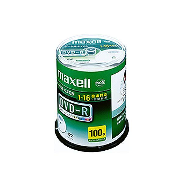 (まとめ)マクセル データ用DVD-R 4.7GB 1-16倍速 ホワイトワイドプリンターブル スピンドルケース DR47WPD.100SP A 1パック(100枚)【×3セット】