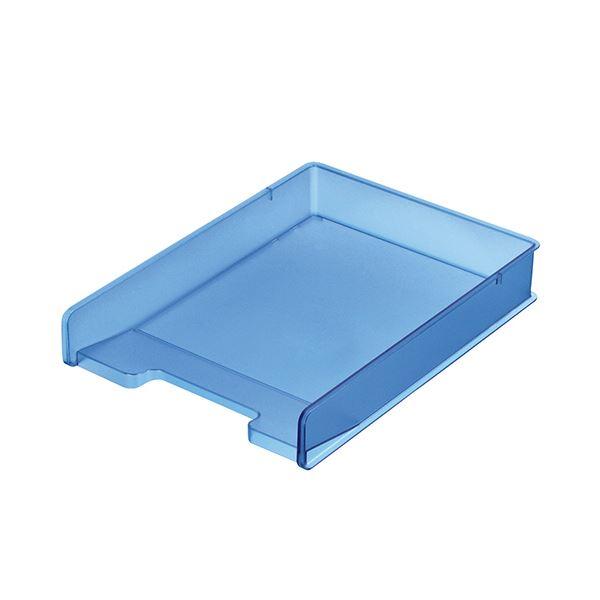 (まとめ) サンカ デスクトレー(頑丈トレー)A4タテ ブルー SDT-PCCBL 1個 【×10セット】