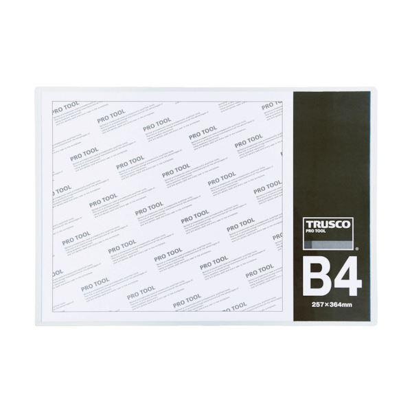 (まとめ)TRUSCO 厚口カードケース B4THCCH-B4 1枚 【×20セット】
