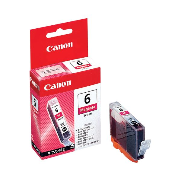(まとめ) キヤノン Canon インクタンク BCI-6M マゼンタ 4707A001 1個 【×30セット】