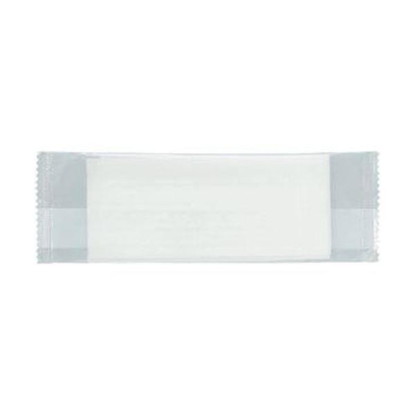 (まとめ)TANOSEE パルプ不織布おしぼり平型 1セット(100枚:50枚×2パック)【×50セット】