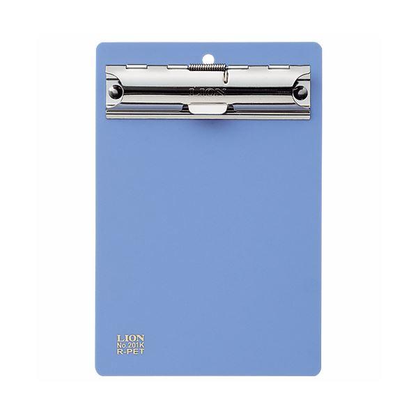 (まとめ)ライオン事務器 PETカラー用箋挟B7タテ ブルー No.201K 1枚 【×30セット】