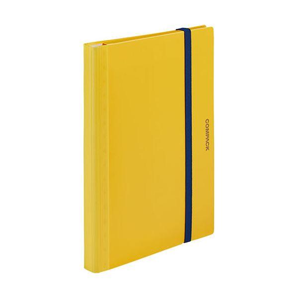 (まとめ) キングジム 二つ折りクリアーファイルコンパック 10ポケット 黄 5894Hキイ 1冊 【×30セット】