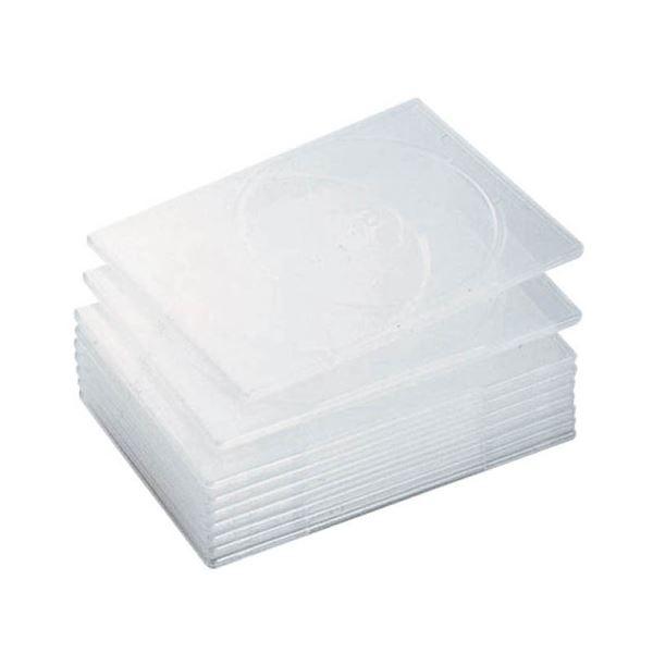 (まとめ) エレコム スリムDVDトールケース2枚収納 クリア CCD-DVDS06CR 1個 【×10セット】