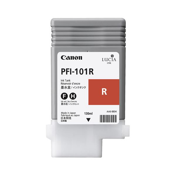 (まとめ) キヤノン Canon インクタンク PFI-101 顔料レッド 130ml 0889B001 1個 【×6セット】