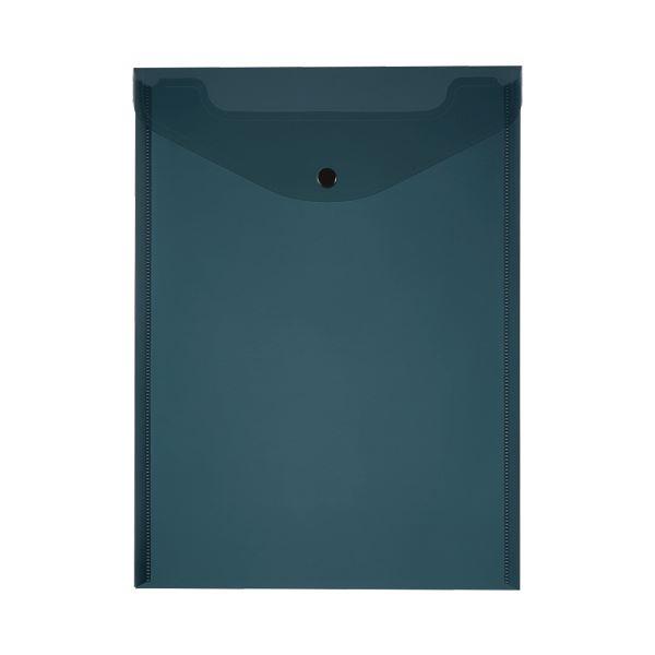 (まとめ)TANOSEE エンベロープ A4タテ ブラック 1セット(20枚:4枚×5パック)【×5セット】