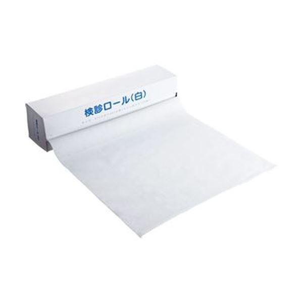 (まとめ)カネモ商事 検診ロール370mm×36m ミシン目あり 白 KR-001 1本(120シート)【×20セット】