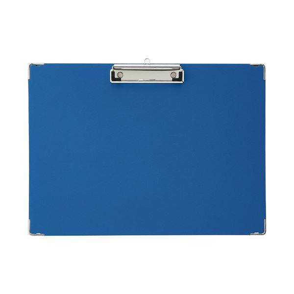 (まとめ)TANOSEE 用箋挟 B4ヨコ ブルー 1枚【×20セット】