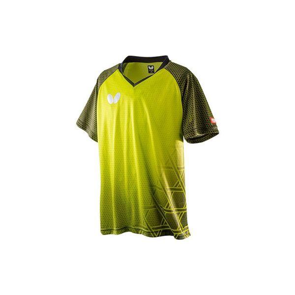 Butterfly(バタフライ) 卓球ゲームシャツ LAGOMEL SHIRT ラゴメル・シャツ 男女兼用 ライム SS