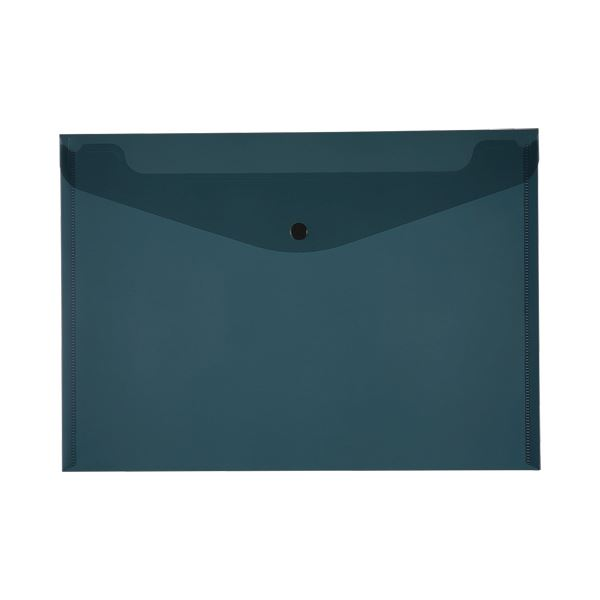 (まとめ)TANOSEE エンベロープ A4ヨコ ブラック 1セット(20枚:4枚×5パック)【×5セット】