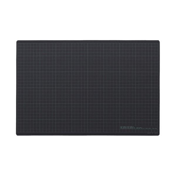 (まとめ) ライオン事務器 カッティングマットKIRIKIRI 再生PVC製 450×300×1.2mm グレー CM-45K 1枚 【×10セット】