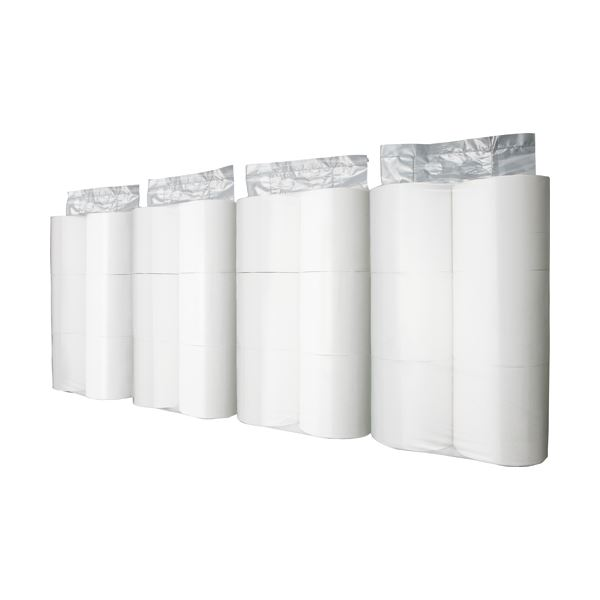<title>持ち運びに便利 セクションでの小分けに便利 まとめ TANOSEE トイレットペーパーパック包装 シングル 芯なし 130m ホワイト 5☆好評 1ケース 24ロール:6ロール×4パック ×5セット</title>