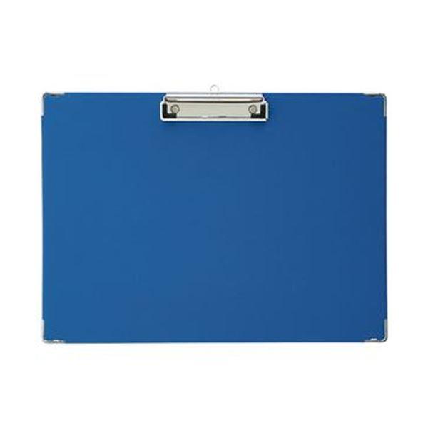 (まとめ)TANOSEE 用箋挟 B4ヨコ ブルー 1枚【×50セット】